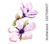 spring flower watercolor | Shutterstock . vector #1327520417