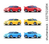 set of sports cars of different ... | Shutterstock .eps vector #1327521854