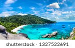 panorama of tropical landscape... | Shutterstock . vector #1327522691