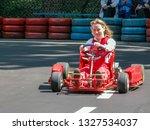 go kart racer on the track.... | Shutterstock . vector #1327534037