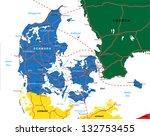 denmark map | Shutterstock .eps vector #132753455