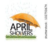 umbrella in the rain. eps 8... | Shutterstock .eps vector #132753674