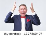 oh no concept. surprised ... | Shutterstock . vector #1327560407
