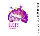 casino logo place for text 3d... | Shutterstock .eps vector #1327572434