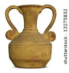 Isolated Picture Of Antique Vase