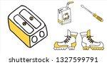 set of school and busines... | Shutterstock .eps vector #1327599791