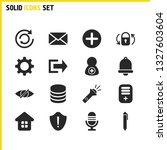 interface icons set with tool ...
