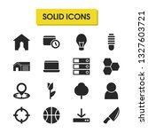universal icons set with locate ...