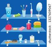 personal hygiene supplies.... | Shutterstock .eps vector #1327609067