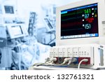 intensive care unit with ecg... | Shutterstock . vector #132761321