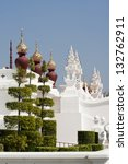 Traditional thai architecture in Lanna style , Royal Pavilion chiang mai Thailand - stock photo