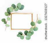 gold frame is decorated with... | Shutterstock . vector #1327633127