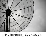 telecommunication concept. old... | Shutterstock . vector #132763889