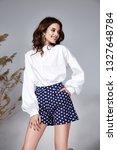 pretty fashion beauty model... | Shutterstock . vector #1327648784