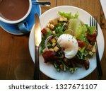 morning egg salad breakfast and ... | Shutterstock . vector #1327671107