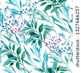 seamless watercolor pattern.... | Shutterstock . vector #1327686257