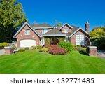 big custom made luxury house... | Shutterstock . vector #132771485