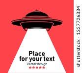 ufo flying spaceship flying... | Shutterstock .eps vector #1327726334