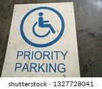 priority parking sign. parking... | Shutterstock . vector #1327728041