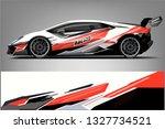 car decal wrap design vector.... | Shutterstock .eps vector #1327734521