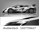 car decal wrap design vector.... | Shutterstock .eps vector #1327734617
