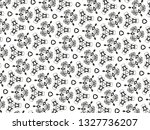 ornament with elements of black ... | Shutterstock . vector #1327736207