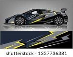 sport car racing wrap design.... | Shutterstock .eps vector #1327736381