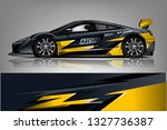 sport car racing wrap design.... | Shutterstock .eps vector #1327736387