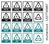 recycling symbols plastic...   Shutterstock .eps vector #1327740887