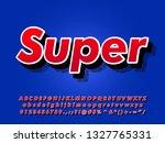 modern bold font effect with... | Shutterstock .eps vector #1327765331