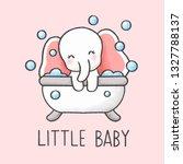 Baby Elephant In Bathtub...
