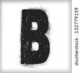 grunge letter   Shutterstock .eps vector #132779159