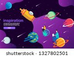 open book  space  galaxy ... | Shutterstock .eps vector #1327802501