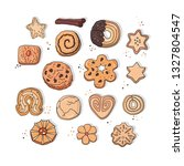 cookies food sweet vector set.... | Shutterstock .eps vector #1327804547