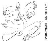various gestures of human... | Shutterstock .eps vector #1327811174