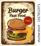 burger vintage label | Shutterstock .eps vector #1327812371