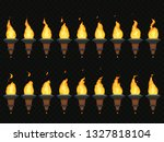 torch fire animation. burning...