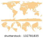dotted world map globe made of... | Shutterstock .eps vector #132781835