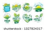 logo fresh food from the farm.... | Shutterstock .eps vector #1327824317