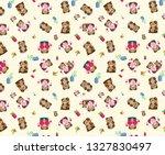 bear on background in vector   Shutterstock .eps vector #1327830497