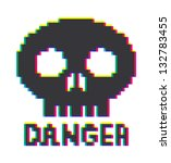 8 bit skull icon