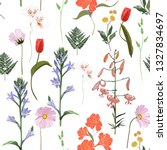 seamless floral pattern on a... | Shutterstock .eps vector #1327834697