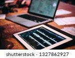 making music using modern... | Shutterstock . vector #1327862927