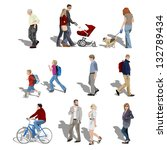 people walking. also available... | Shutterstock . vector #132789434