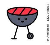 bbq grill vector  spring season ... | Shutterstock .eps vector #1327898087