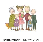 a happy family. parents with... | Shutterstock .eps vector #1327917221