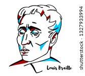 louis braille engraved vector...   Shutterstock .eps vector #1327933994