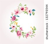 vector flower font capital c | Shutterstock .eps vector #132793544