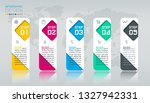 business infographic with 5...   Shutterstock .eps vector #1327942331