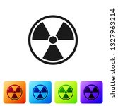 black radioactive icon isolated ...   Shutterstock .eps vector #1327963214